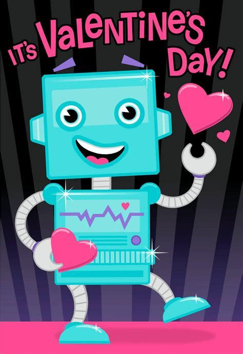 Super Charged Robot Valentine's Day Sound Card   Greeting
