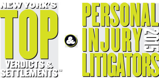 New York's Top Verdicts & Settlements and Personal Injury Litigators 2015 - Special Advertising Section for New York Magazine