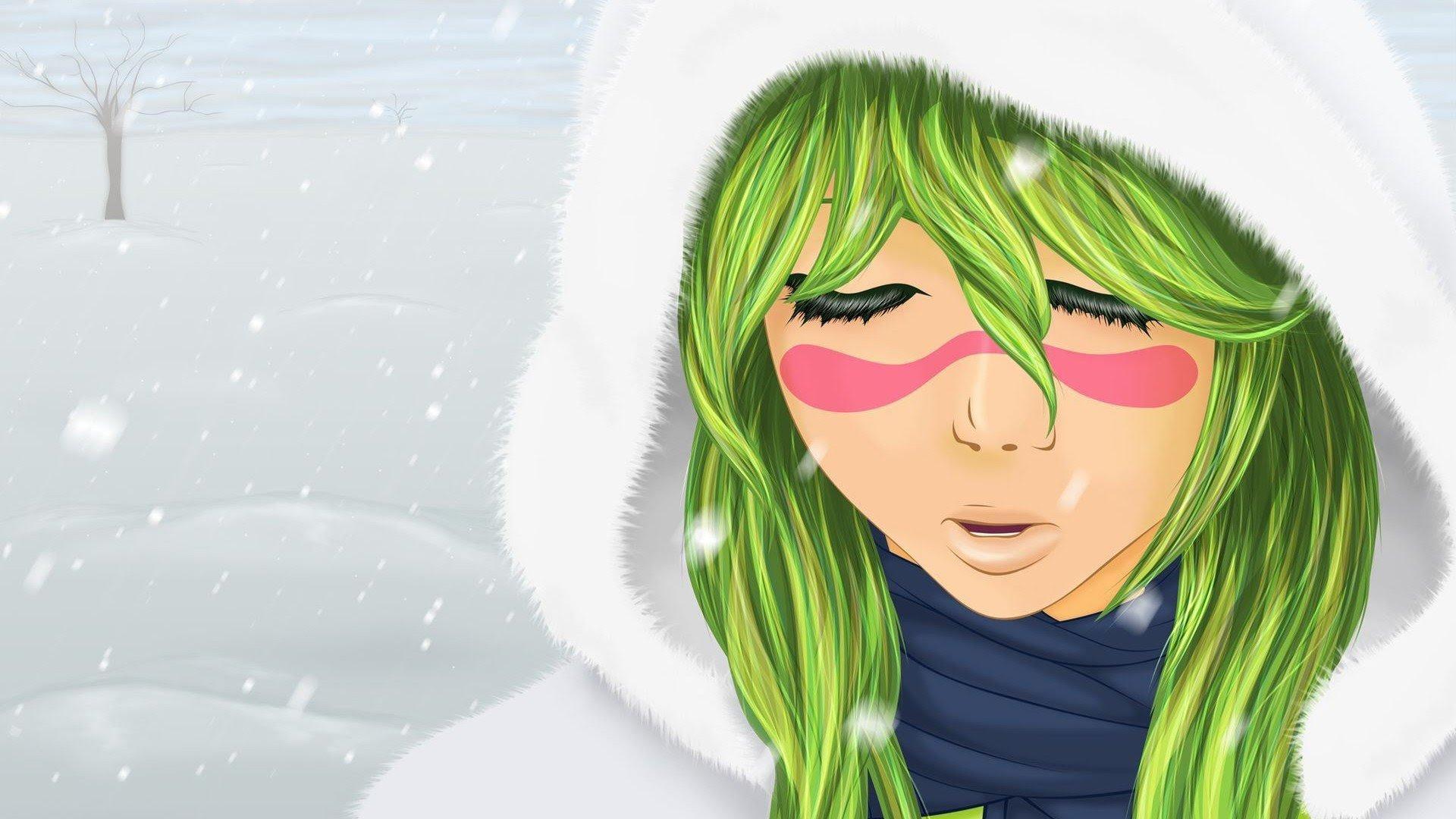 Anime series bleach girl green hair character wallpaper ...
