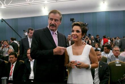 Vicente Fox y Martha Sahagún en Guanajuato. Foto: Mario Armas