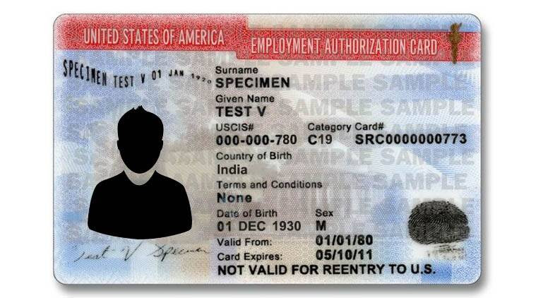 employment authorization card for legal aliens