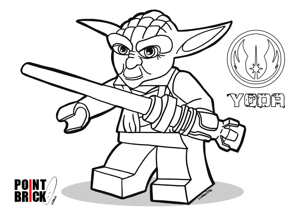 Point Brick Blog Disegni Da Colorare Lego Star Wars Yoda E At At
