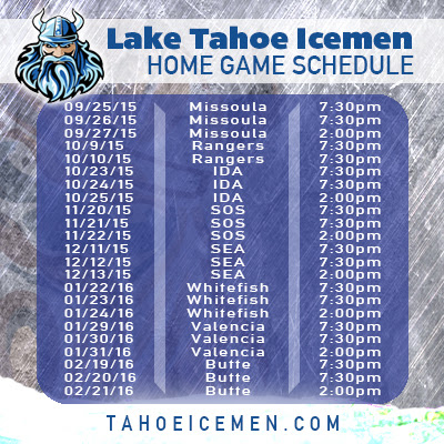 Home Page | Tahoe Icemen - Pointstreak Sites