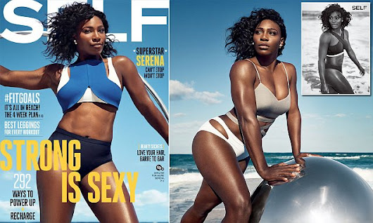 Serena Williams shows off her body on stunning magazine cover