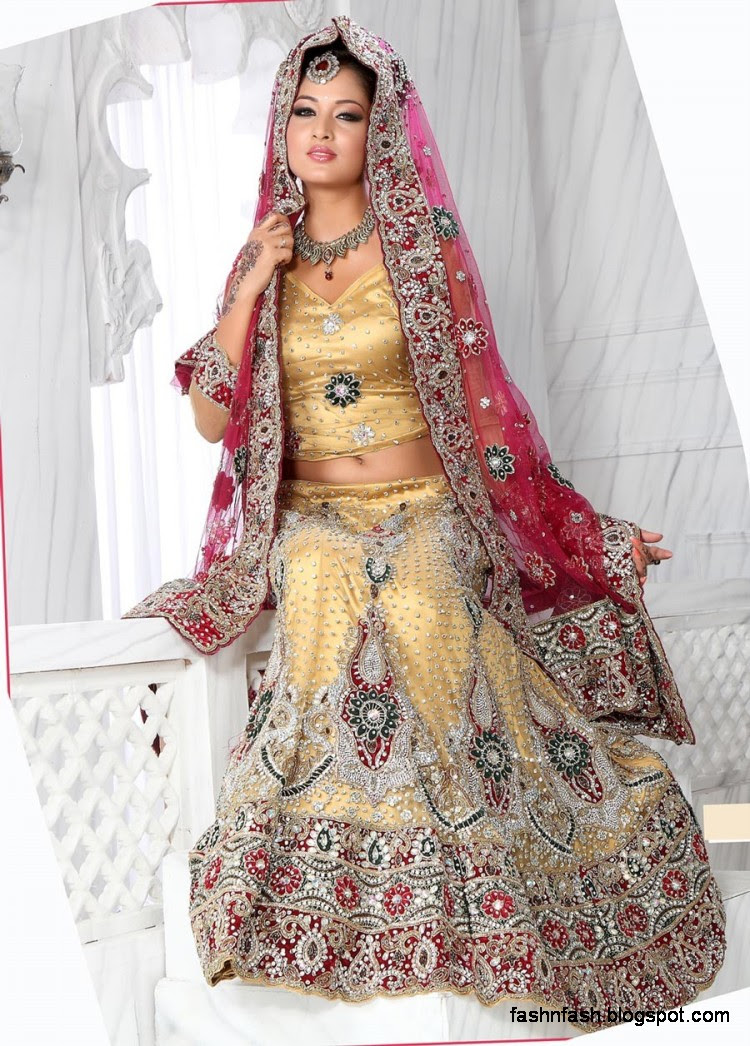 Bridal-Brides-Wedding-Dress-Beautiful-Indian-Bridal-Valima-Lehanga-Choli-Collection-2