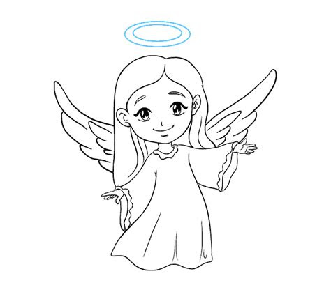 draw  angel    easy steps easy drawing guides