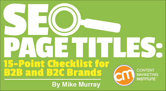 SEO Page Titles: 15-Point Checklist for B2B and B2C Brands