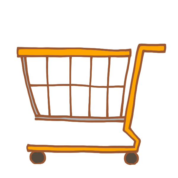 ショッピングカートのイラスト かわいいフリー素材が無料のイラストレイン