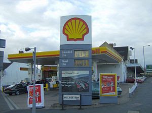 A UK Shell petrol station in London in Novembe...
