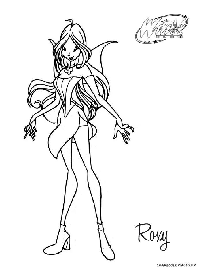 Coloriage Winx Club Roxy La Fée Des Animaux Elle Vient De La