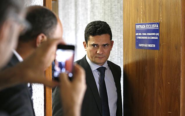 O juiz federal Sergio Moro, responsável pela condução dos processos na Operação Lava Jato, participa de audiência pública na CCJ