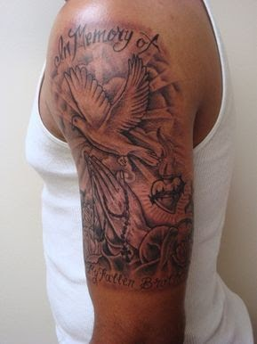 Upper Arm Arm Tattoo Black Men Tattoo Ideas
