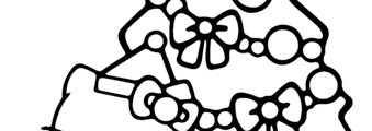 Free Printable Hello Kitty Christmas Coloring Pages