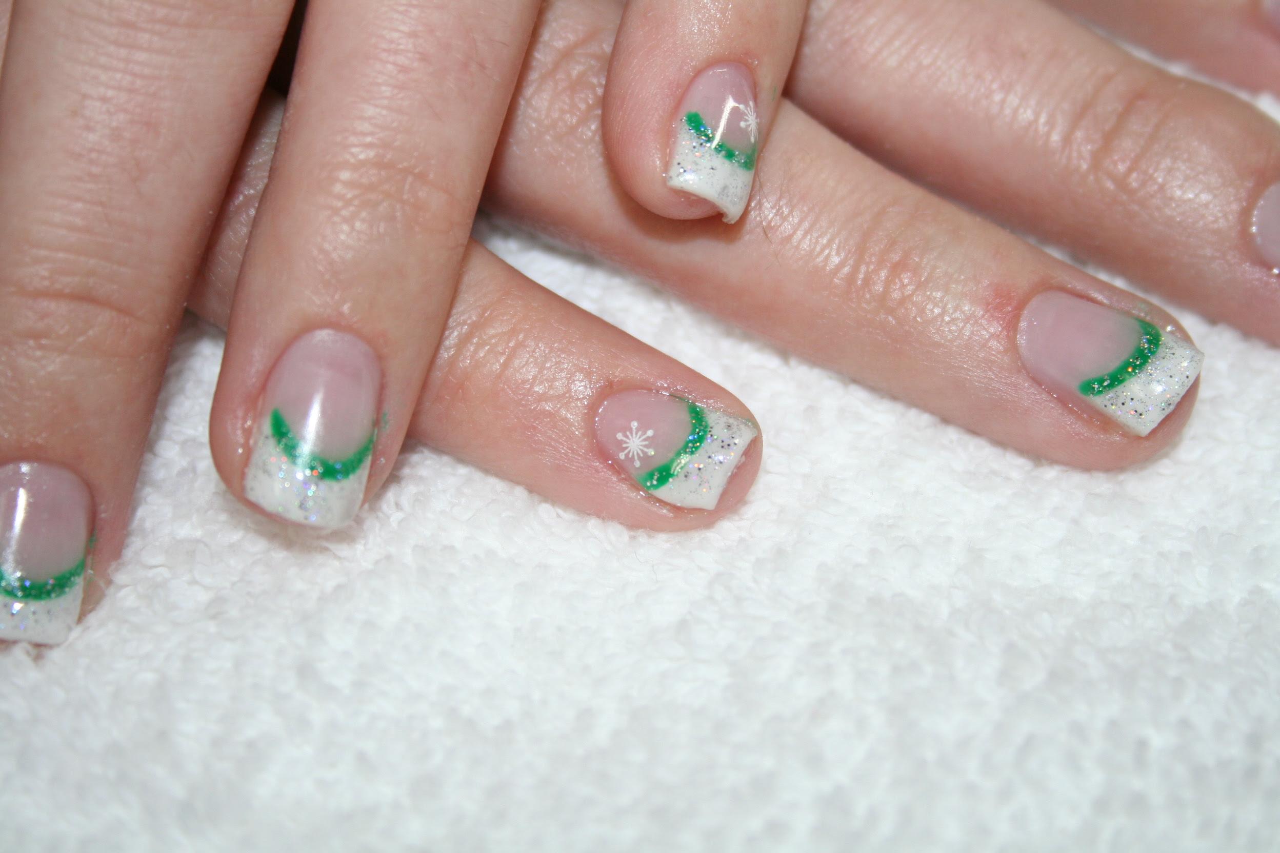 Contemporary Christmas Gel Nail Designs Embellishment - Nail Art ...