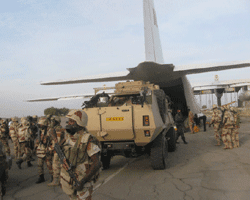 Chadian troops shipping out