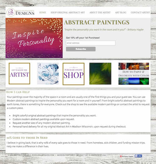 Featured Website: Driving traffic with Brittany Hagler Designs