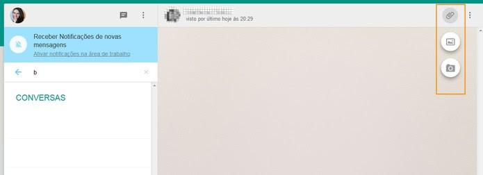 Enviar fotos e videEnviar fotos e vídeos no WhatsApp Web (Foto: Reprodução/Barbara Mannara)os no WhatsApp Web (Foto: Reprodução/Barbara Mannara)