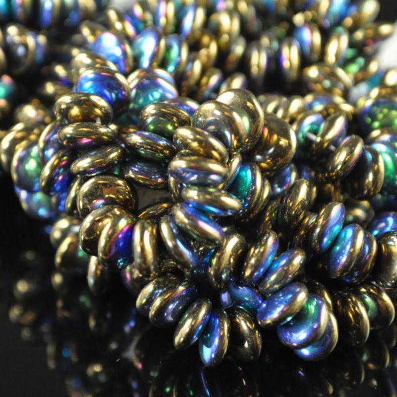 s42392 Glass - 6 mm Lentils - Metallic Bronze Aurora (25)