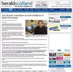 Law Society Committee to seek abolition of legal aid quango - The Herald 12 october 2010