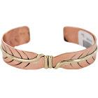 Certified Authentic Navajo Handmade Brass Native American Pure Copper Bracelet, Adult Unisex, Grey Type