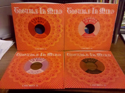 "4 New @Trouble_In_Mind Records 7""s - Mixed Colored Vinyl"