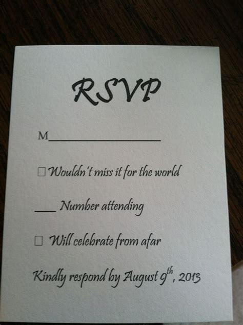 How To Respond To Wedding Invitation