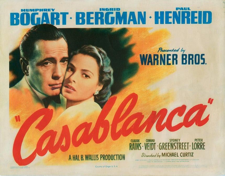 movie poster Casablanca 1942 bogart bergman