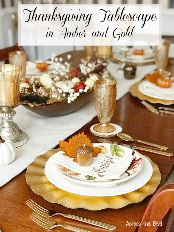 Thanksgiving Tablescape with Place Cards