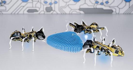 Formigas biônicas testam conceitos para fábrica do futuro