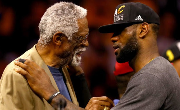 Bill Russell y LeBron James