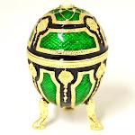 Ciel Collectables 1131524A Faberge Design Egg Gold Plating Trinket Box - Swarovski Crystals & Enamel