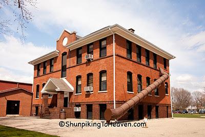 Cherry Grade School, with Old-Fashioned Fire Escape, Bureau County, Illinois