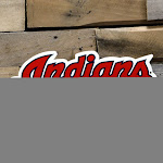 Authentic Street Signs 94021 12 in. Indians Script Steel Logo