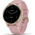 Garmin vívoactive 4S, Smaller-Sized GPS Smartwatch, Features Music, Body Energy Monitoring, Animated Workouts
