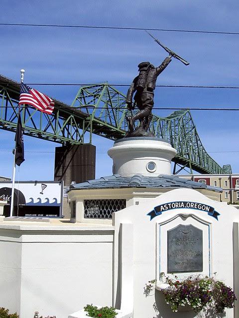 Doughboy Monument & Astoria-Megler Bridge