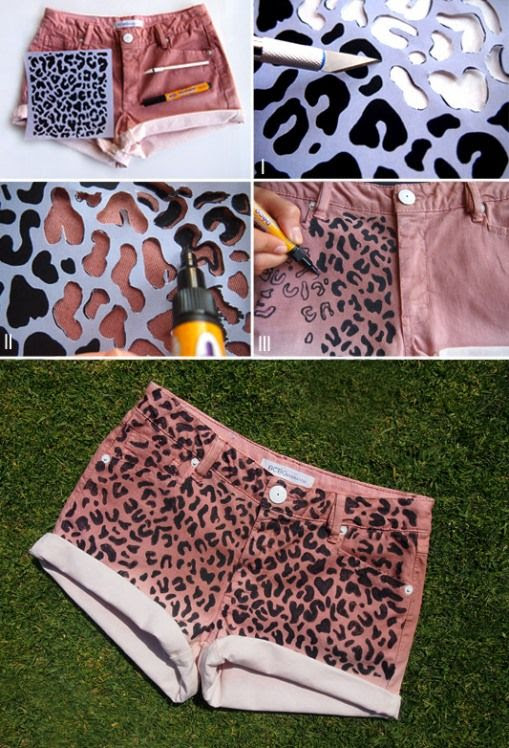 DIY Fashion | Leopard pring shorts