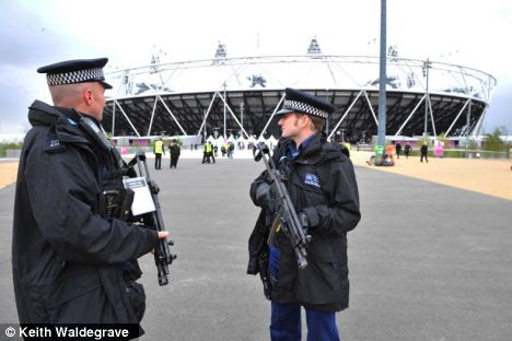'Substantial' terror threat: During the Games the Olympic Park will be protected by the biggest peacetime security operation ever seen in Britain