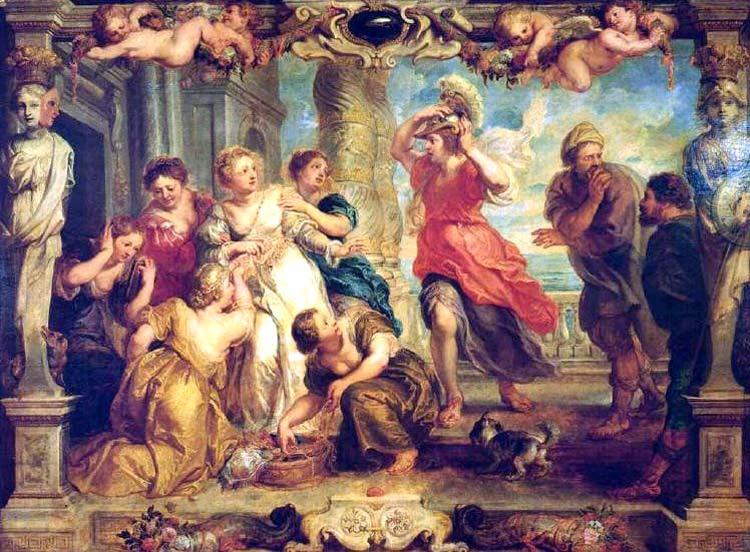Resultado de imagen de Aquiles descubierto entre las hijas de Licomedes