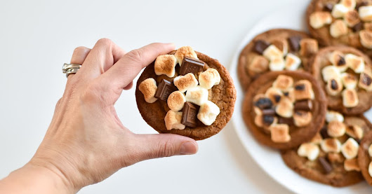 The Most Awesome S'mores Brown Butter Panbanging Cookies