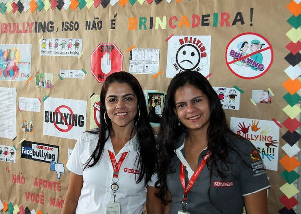 A pedagoga Sandra Mara e a instrutora dos cursos Juliana Sertore: felizes com o resultado