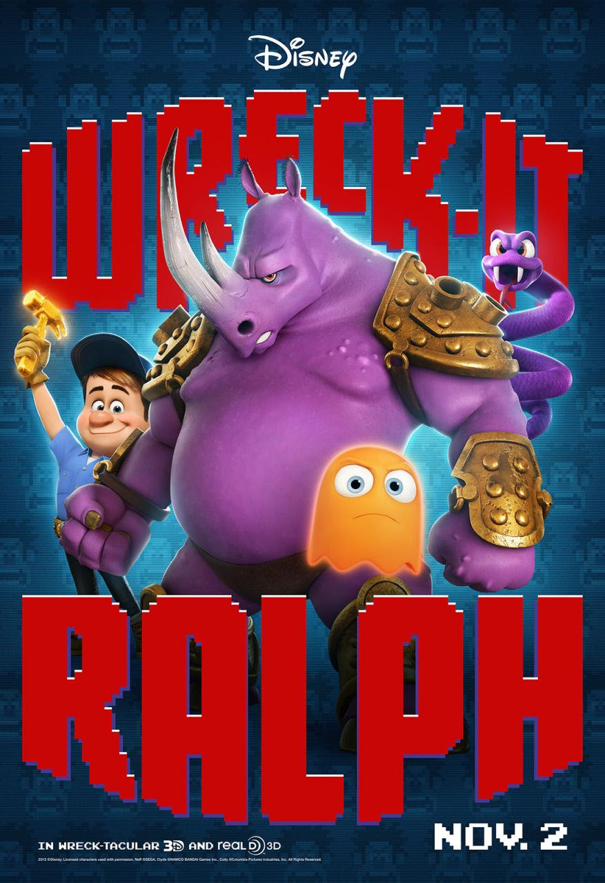 First Character Posters for Disney's Wreck-It Ralph - Movienewz.com