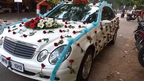 Wedding Car flowers decoration video   YouTube