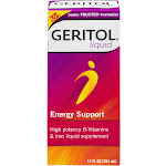 Geritol High Potency B-Vitamins & Iron Supplement Energy Support 12 Oz