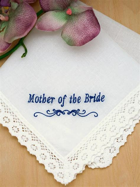 Mother of the Bride Personalized Handkerchief   Font I