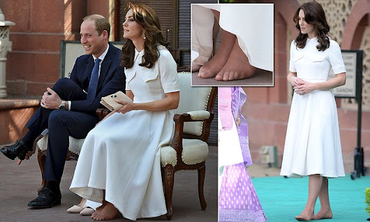 Duchess Of Cambridge reveals her un-pedicured toes in India