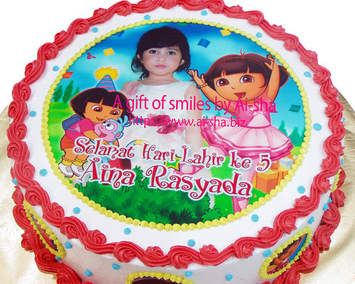 Birthday Cake Edible Image Dora Ai-sha Puchong Jaya