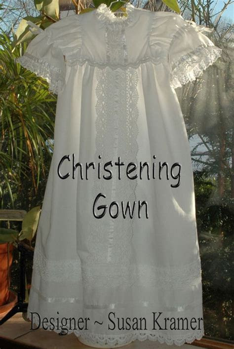 Make a Christening Gown or Baptismal Dress for Baby