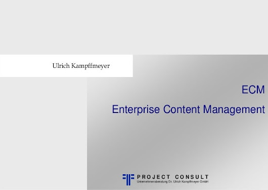 [EN|FR|DE] ECM Enterprise Content Management | eBook | Ulrich Kampffm…