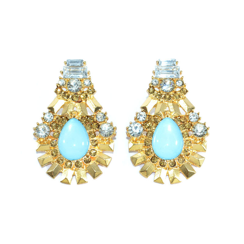 WATER DROP SHAPE CRYSTAL EARRINGS - product images  of