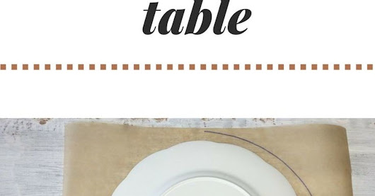 You've probably never seen anyone make this for their table before